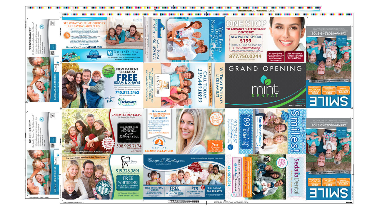 Quality Dental Postcard Marketing and Printing